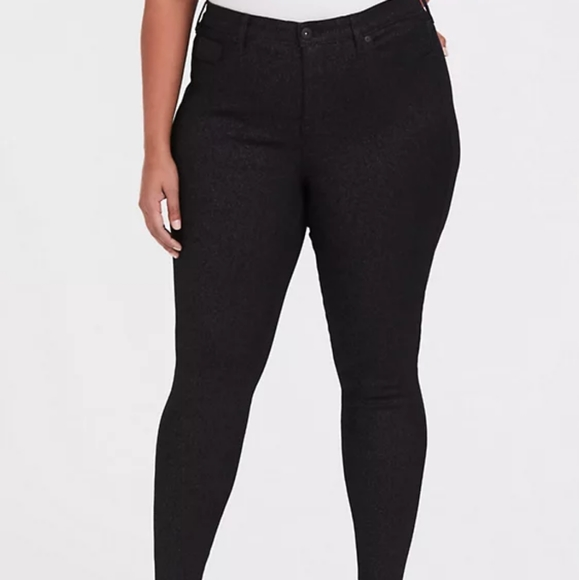 Sky High Premium Stretch Black Sparkle Jean